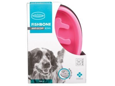 M-Pets Fishbone Slow Feed Oval Bowl