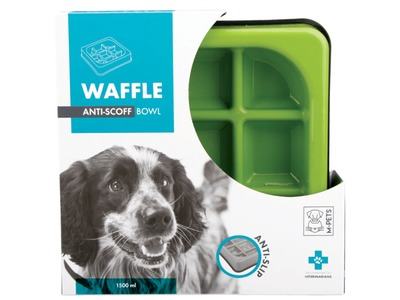 M-Pets Waffle Slow Feed Square Bowl