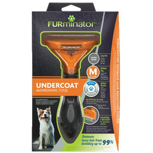 FURminator Undercoat deShedding Tool Medium Dog Long Hair