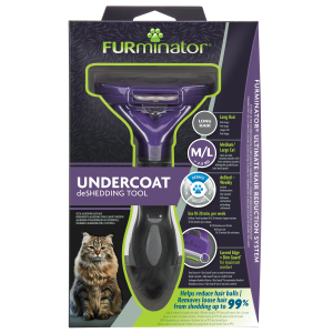 FURminator Undercoat deShedding Tool Medium/Large Cat Long H