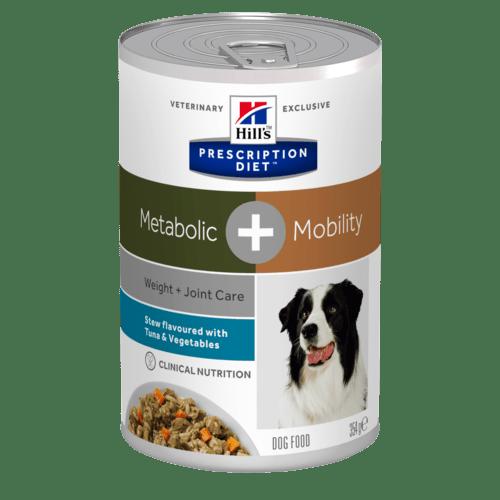 Hill's Prescription Diet Metabolic + Mobility Stew hundfoder grönsaker & tonfisk