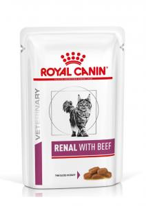 Royal Canin Veterinary Diet Cat Renal Beef Wet 12x85g