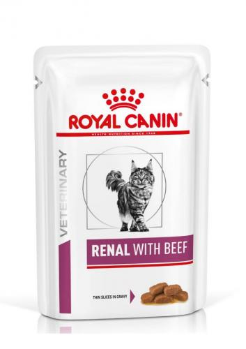 Royal Canin Veterinary Diet Cat Renal Beef Wet