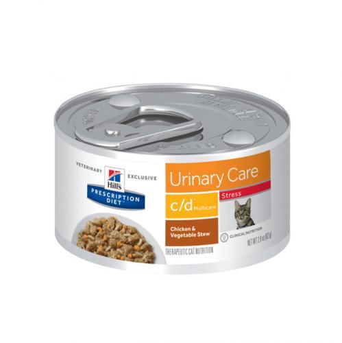 Hill's Prescription Diet Feline C/D Urinary Stress Feline Stew with Chicken & added Vegetables