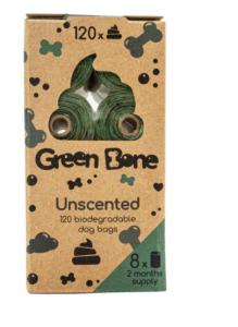 Green Bone Unscented Biobajspåsar 8 rullar