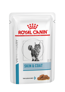 Royal Canin Veterinary Care Cat Derma Skin & Coat Pouch 12x85g