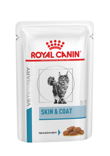 Royal Canin Veterinary Care Cat Derma Skin & Coat Pouch