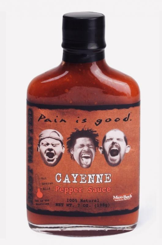 Most Wanted Pain is Good Cayenne Hot Sauce​
