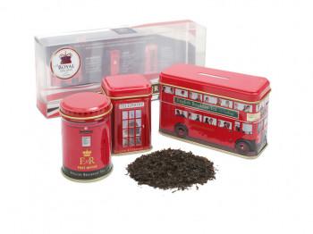 LONDON TOUR CADDIES WITH 2 BLACK TEAS - 14 TAGGED TEABAGS & 50G LOOSE