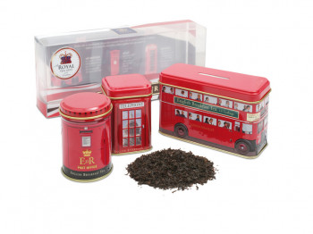 ​LONDON TOUR CADDIES WITH 2 BLACK TEAS - 14 TAGGED TEABAGS & 50G LOOSE