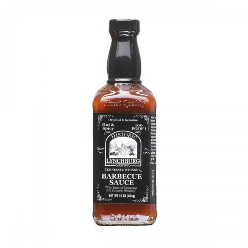 ​Historic Lynchburg Tennessee Whiskey Hot and Spicy Barbecue Sauce 100 'Poof'