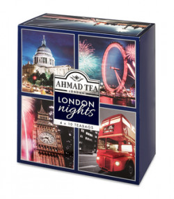 ​LONDON NIGHTS COLLECTION OF 4 BLACK, GREEN & FRUIT TEAS - 40 FOIL TEABAGS
