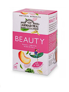 "PEACH, CAROB & ROSE PETALS ""BEAUTY"" INFUSION - TEABAGS"