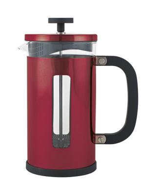 Kaffe/Tepress Röd metallic - liten