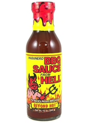 Habanero BBQ Sauce from Hell 368gr