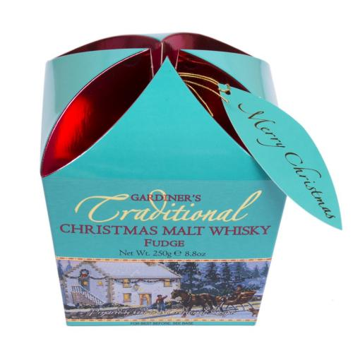 Xmas Whisky Fudge Carton 250g