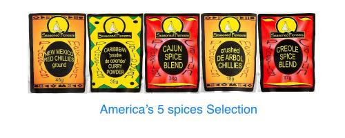 America's 5 spices Selection