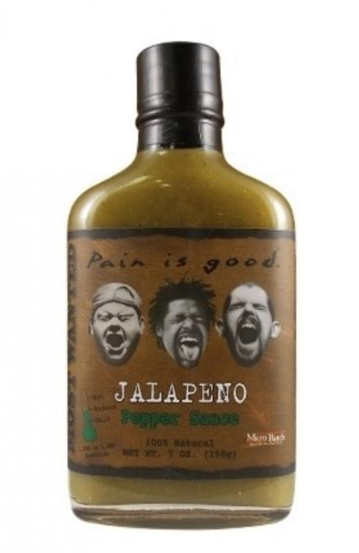 Most Wanted Pain is Good Jalapeno Hot Sauce​