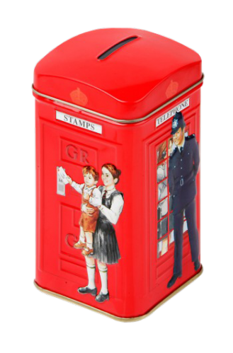 POLICEMAN TELEPHONE BOX TEA CADDY 25 TEABAG