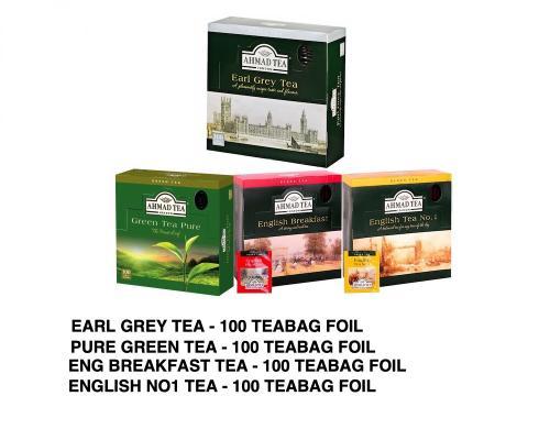 Ahmad Tea 100 Teabags Foil Bundle 4x100 Teabags