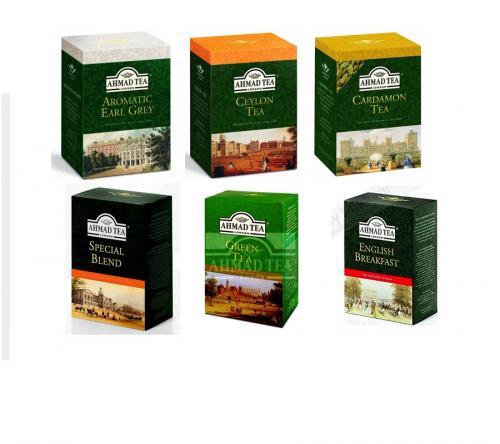 Ahmad Tea 500gr 6 olika smaker