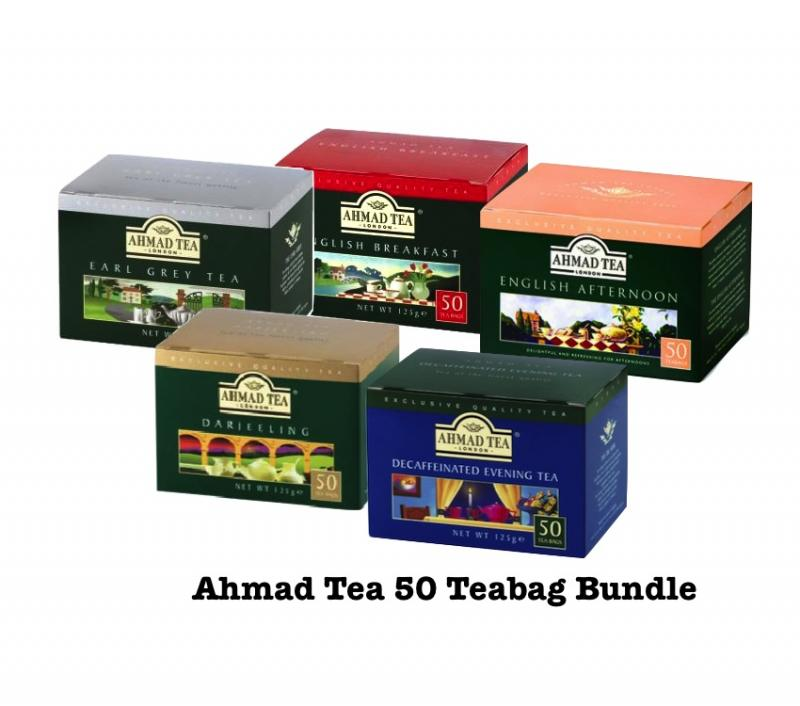 Ahmad Tea 50 Teabag Bundle
