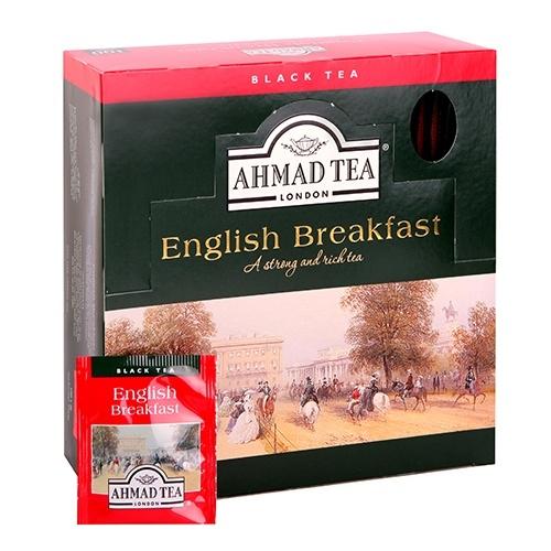 Ahmad Te English Breakfast Te 100 folie tepåsar