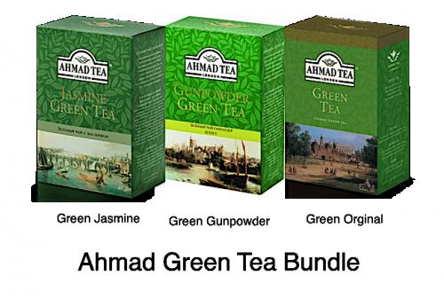 Ahmad 250gr Green Loose Tea Bundle