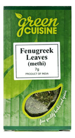 Bockhornsklöver (blad) / Fenugreek Leaf (Methi Leaves) 7g