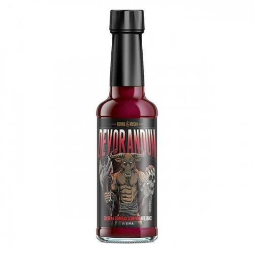 BURNS & MCCOY DEVORANDUM CHERRY TRINIDAD SCORPION HOT SAUCE 148ml