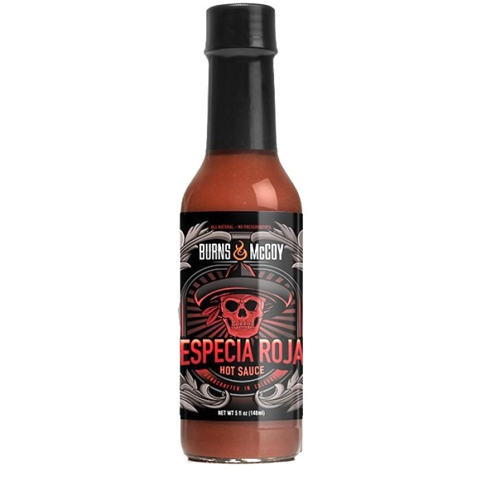 BURNS & MCCOY ESPECIA ROJO HOT SAUCE 148ml