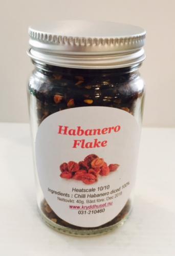 HABANERO CHILI FLINGOR / CHILE HABANERO FLAKES 40g