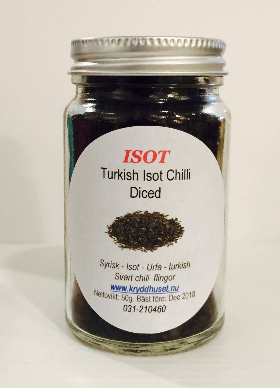 SYRIAN - ISOT - URFA - KURDISH BLACK CHILLI FLAKES 50gr c2cb1098d5