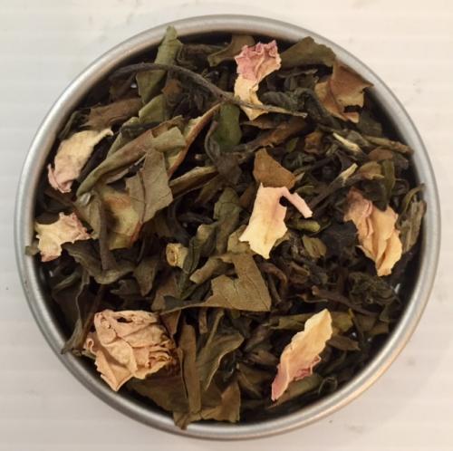 Ekologisk Vit Vanilje ros Te / Organic White Vanilla Rose tea 100gr