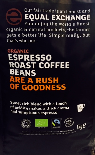 Ekologisk Espresso coffee 1kg