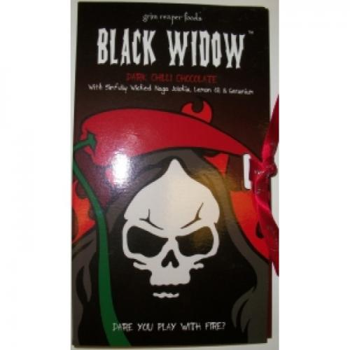 GRIM REAPER FOODS BLACK WIDOW DARK CHILLI CHOCOLATE