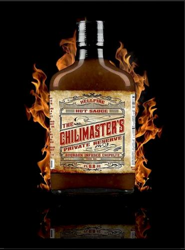 HELLFIRE CHILLIMASTER'S PRIVATE RESERVE BOURBON INFUSED CHIPOTLE HOT SAUCE 200ml