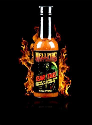 HELLFIRE FEAR THIS CAROLINA REAPER HOT SAUCE 148ml