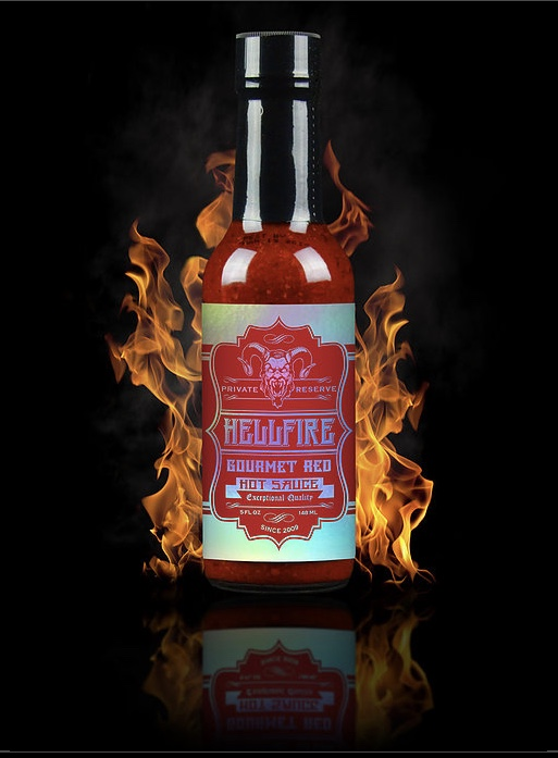 HELLFIRE GOURMET RED HOT SAUCE 148ml