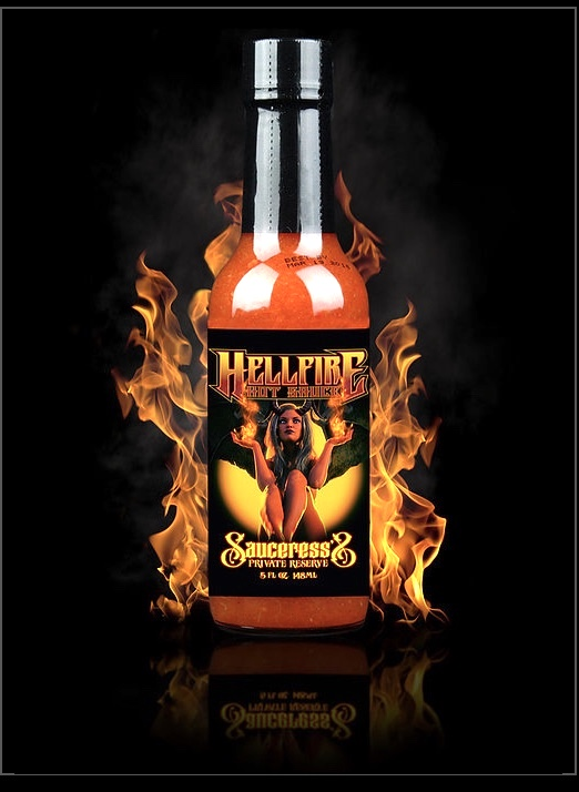 HELLFIRE THE SAUCERESS'S PRIVATE RESERVE HOT SAUCE