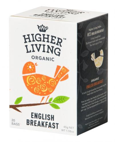 HIGHER LIVING ENGLISH BREAKFAST 20 Tea bags
