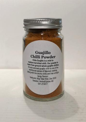 CHILLI GUAJILLO Powder ( GUAJILLO Chili pulver )​​​​​ 60gr