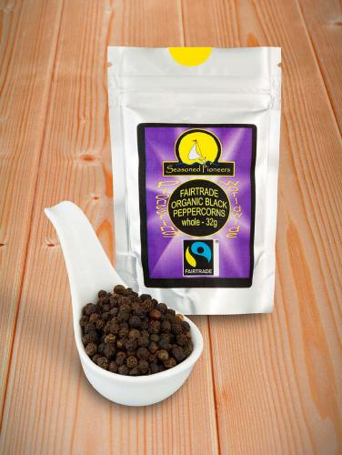 Fairtrade & Ekologisk Svart pepparkorn Hela 32gr