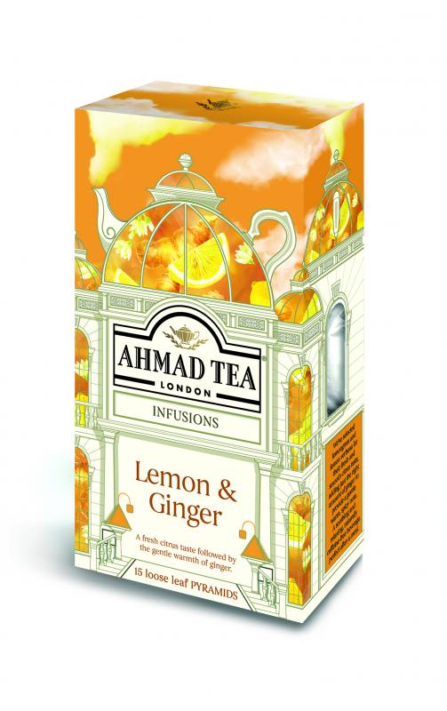 LEMON & GINGER 15 Pyramid Tea Bags