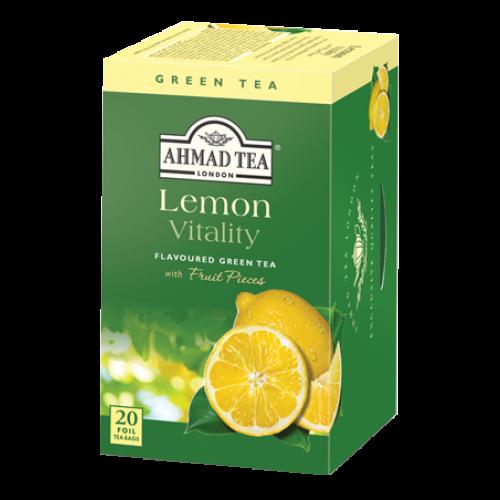 Ahmad Te LEMON VITALITY/ Citron Te, 20st. tepåsar