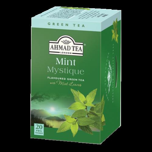 Ahmad Te Mint Mystique Green Tea/ Peppermint Grönt Te 20 Tepåsar
