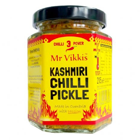MR VIKKIS KASHMIRI CHILLI PICKLE 215G