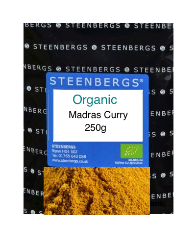 Ekologisk Madras Curry Pulver / Organic Madras Curry Powder large Catering Packs 250g​​​