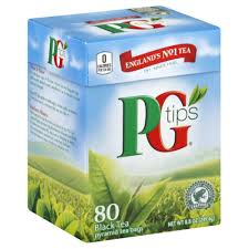 PG tips te 80 tepåsar
