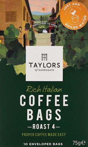Taylors Of Harrogate Rich Italian Coffee Bags 75 g